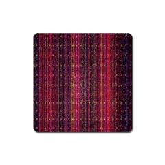 Colorful And Glowing Pixelated Pixel Pattern Square Magnet