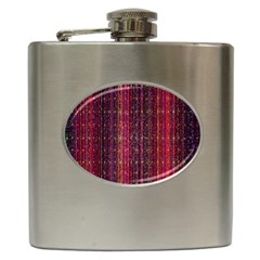 Colorful And Glowing Pixelated Pixel Pattern Hip Flask (6 Oz)