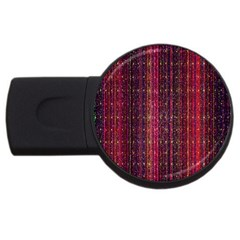 Colorful And Glowing Pixelated Pixel Pattern USB Flash Drive Round (1 GB)