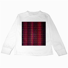Colorful And Glowing Pixelated Pixel Pattern Kids Long Sleeve T Shirts