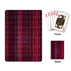 Colorful And Glowing Pixelated Pixel Pattern Playing Card