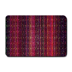 Colorful And Glowing Pixelated Pixel Pattern Small Doormat