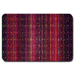 Colorful And Glowing Pixelated Pixel Pattern Large Doormat