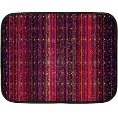 Colorful And Glowing Pixelated Pixel Pattern Fleece Blanket (mini)
