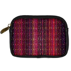 Colorful And Glowing Pixelated Pixel Pattern Digital Camera Cases