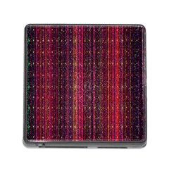 Colorful And Glowing Pixelated Pixel Pattern Memory Card Reader (Square)