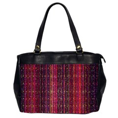 Colorful And Glowing Pixelated Pixel Pattern Office Handbags (2 Sides)