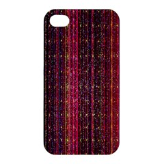 Colorful And Glowing Pixelated Pixel Pattern Apple Iphone 4/4s Hardshell Case