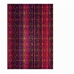 Colorful And Glowing Pixelated Pixel Pattern Large Garden Flag (Two Sides)