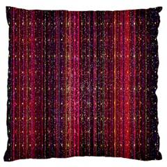 Colorful And Glowing Pixelated Pixel Pattern Large Cushion Case (One Side)