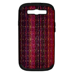 Colorful And Glowing Pixelated Pixel Pattern Samsung Galaxy S III Hardshell Case (PC+Silicone)