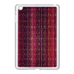 Colorful And Glowing Pixelated Pixel Pattern Apple Ipad Mini Case (white)