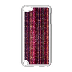 Colorful And Glowing Pixelated Pixel Pattern Apple iPod Touch 5 Case (White)