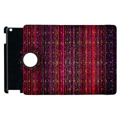 Colorful And Glowing Pixelated Pixel Pattern Apple iPad 2 Flip 360 Case