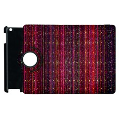 Colorful And Glowing Pixelated Pixel Pattern Apple iPad 3/4 Flip 360 Case