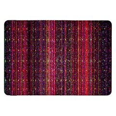 Colorful And Glowing Pixelated Pixel Pattern Samsung Galaxy Tab 8 9  P7300 Flip Case