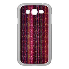 Colorful And Glowing Pixelated Pixel Pattern Samsung Galaxy Grand DUOS I9082 Case (White)