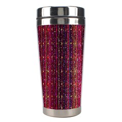 Colorful And Glowing Pixelated Pixel Pattern Stainless Steel Travel Tumblers