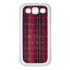Colorful And Glowing Pixelated Pixel Pattern Samsung Galaxy S3 Back Case (White)