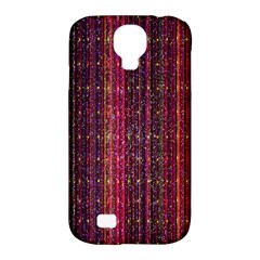 Colorful And Glowing Pixelated Pixel Pattern Samsung Galaxy S4 Classic Hardshell Case (pc+silicone)