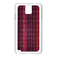 Colorful And Glowing Pixelated Pixel Pattern Samsung Galaxy Note 3 N9005 Case (white)