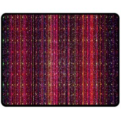 Colorful And Glowing Pixelated Pixel Pattern Double Sided Fleece Blanket (Medium)