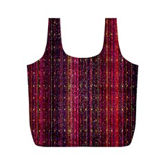 Colorful And Glowing Pixelated Pixel Pattern Full Print Recycle Bags (M)
