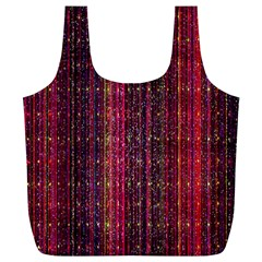 Colorful And Glowing Pixelated Pixel Pattern Full Print Recycle Bags (L)