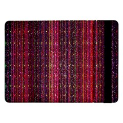 Colorful And Glowing Pixelated Pixel Pattern Samsung Galaxy Tab Pro 12.2  Flip Case