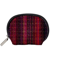 Colorful And Glowing Pixelated Pixel Pattern Accessory Pouches (Small)