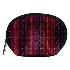 Colorful And Glowing Pixelated Pixel Pattern Accessory Pouches (Medium)