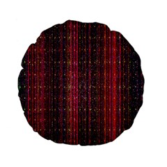 Colorful And Glowing Pixelated Pixel Pattern Standard 15  Premium Flano Round Cushions
