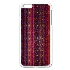 Colorful And Glowing Pixelated Pixel Pattern Apple Iphone 6 Plus/6s Plus Enamel White Case