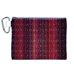 Colorful And Glowing Pixelated Pixel Pattern Canvas Cosmetic Bag (XL)