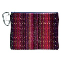 Colorful And Glowing Pixelated Pixel Pattern Canvas Cosmetic Bag (xxl)