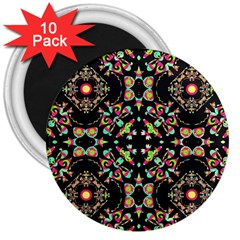 Abstract Elegant Background Pattern 3  Magnets (10 Pack)