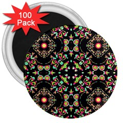 Abstract Elegant Background Pattern 3  Magnets (100 Pack)