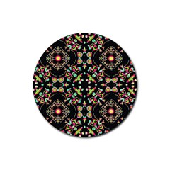 Abstract Elegant Background Pattern Rubber Coaster (round)