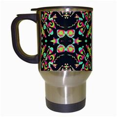 Abstract Elegant Background Pattern Travel Mugs (white)