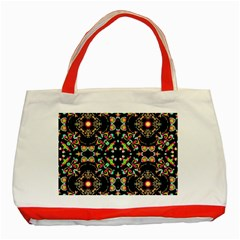 Abstract Elegant Background Pattern Classic Tote Bag (red)