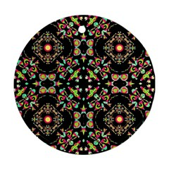 Abstract Elegant Background Pattern Round Ornament (two Sides)