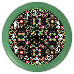 Abstract Elegant Background Pattern Color Wall Clocks