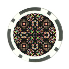 Abstract Elegant Background Pattern Poker Chip Card Guard (10 Pack)