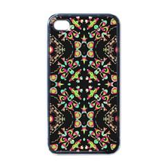 Abstract Elegant Background Pattern Apple iPhone 4 Case (Black)