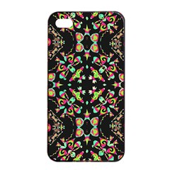 Abstract Elegant Background Pattern Apple iPhone 4/4s Seamless Case (Black)