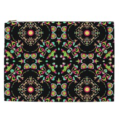 Abstract Elegant Background Pattern Cosmetic Bag (xxl)