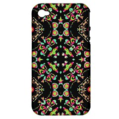 Abstract Elegant Background Pattern Apple iPhone 4/4S Hardshell Case (PC+Silicone)
