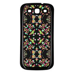 Abstract Elegant Background Pattern Samsung Galaxy S3 Back Case (Black)