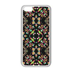 Abstract Elegant Background Pattern Apple iPhone 5C Seamless Case (White)