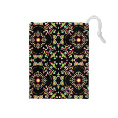 Abstract Elegant Background Pattern Drawstring Pouches (Medium)